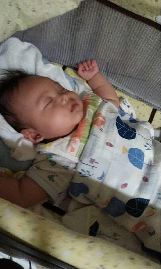 二手-哄睡神器電動嬰兒搖籃搖床