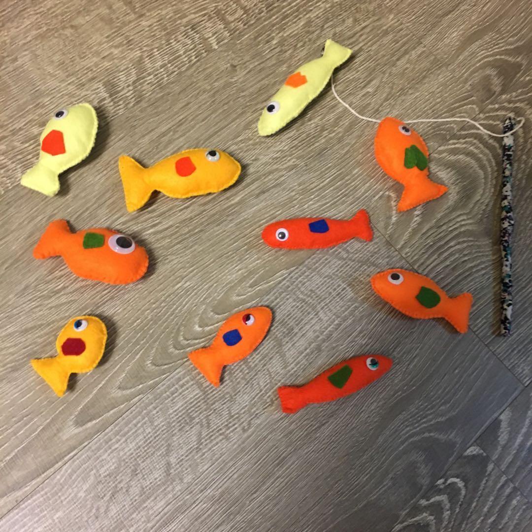 手作 不織布 釣魚組(全手工1組12隻🐟+1枝釣竿🎣 玩具