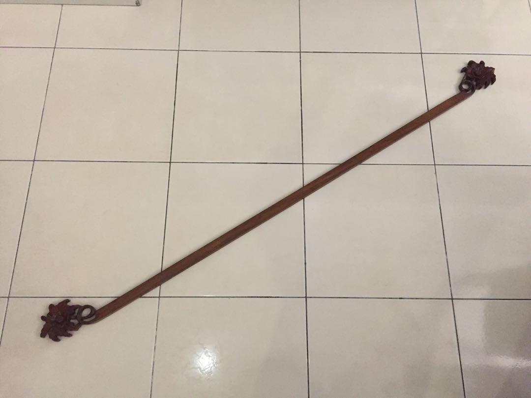 Antique Wood Rod w Details