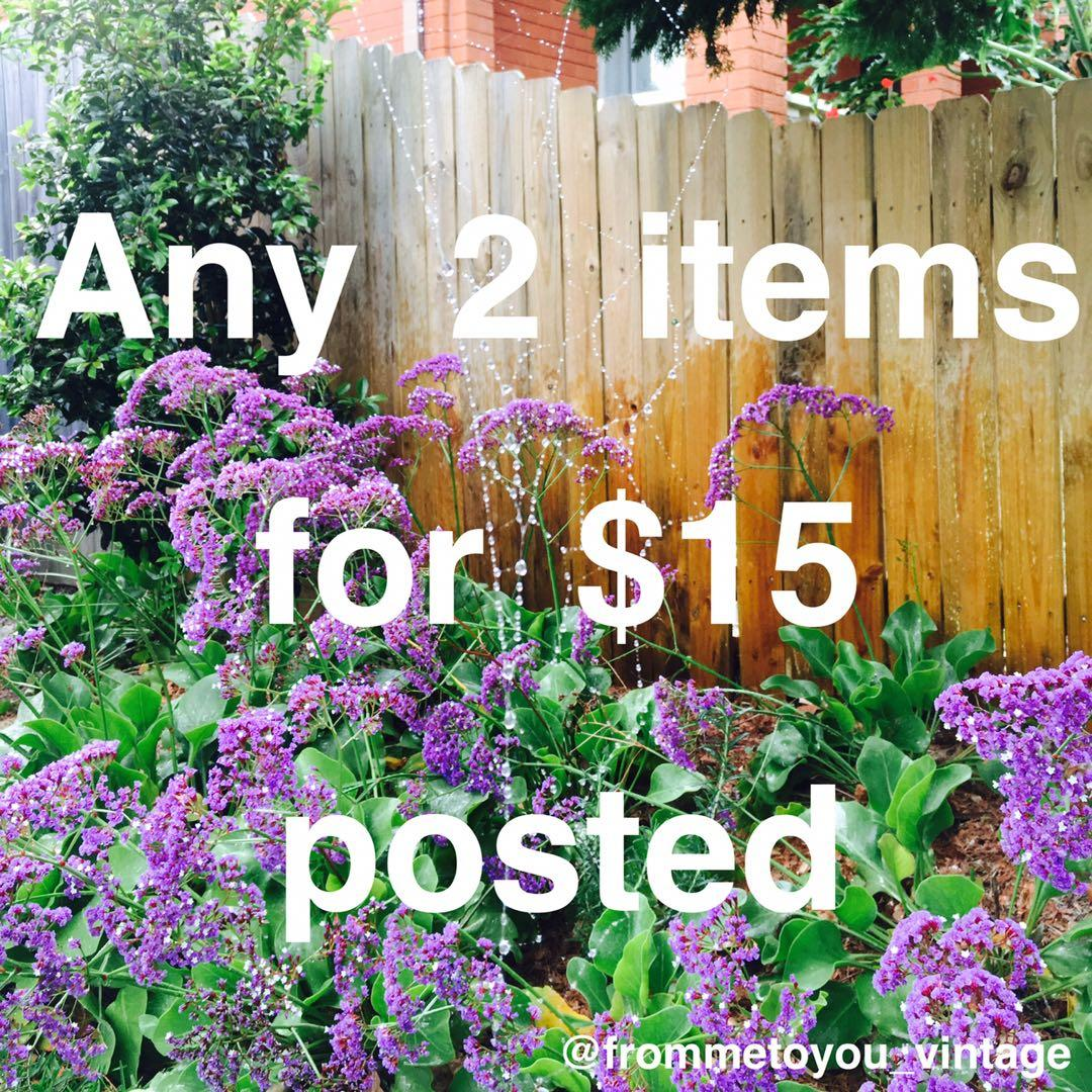 Any 2 items in this post are just $15 with free shipping