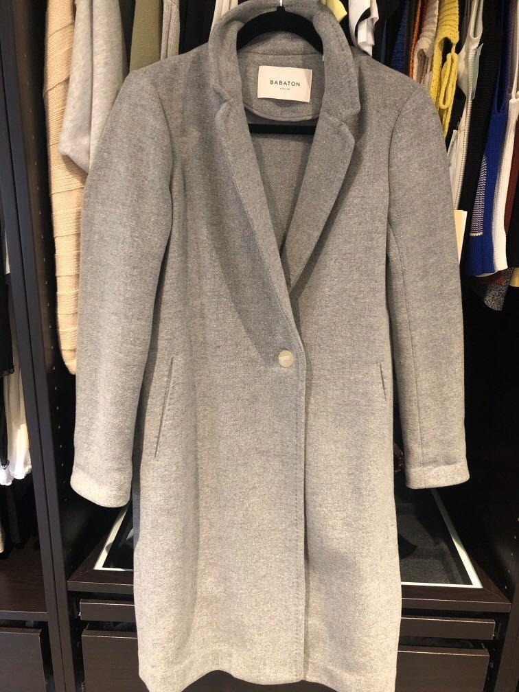 Aritzia babaton stedman wool coat heather light grey  XXSmall