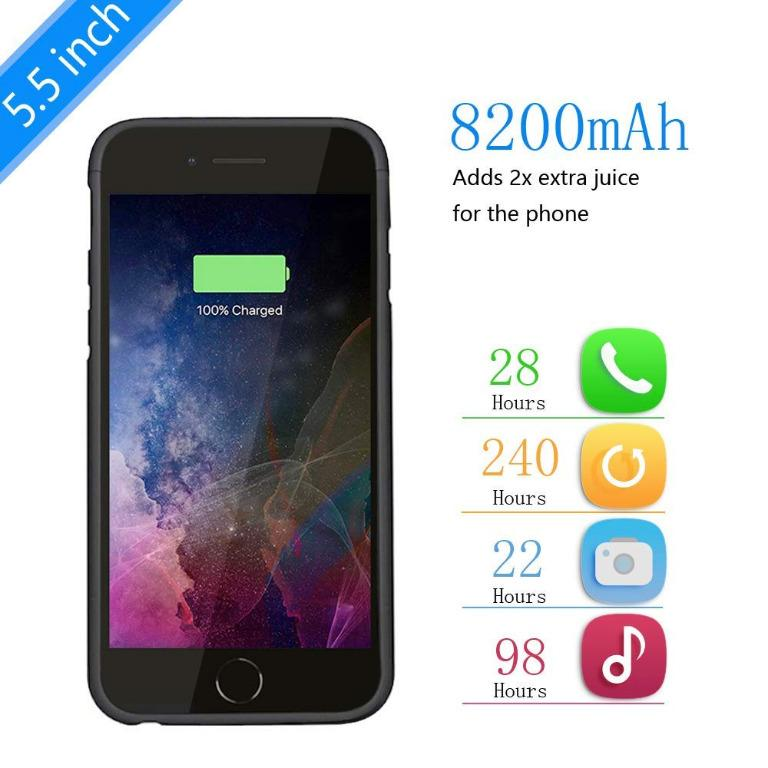 Battery Case for iPhone 6 Plus/6S Plus/7 Plus/8 Plus