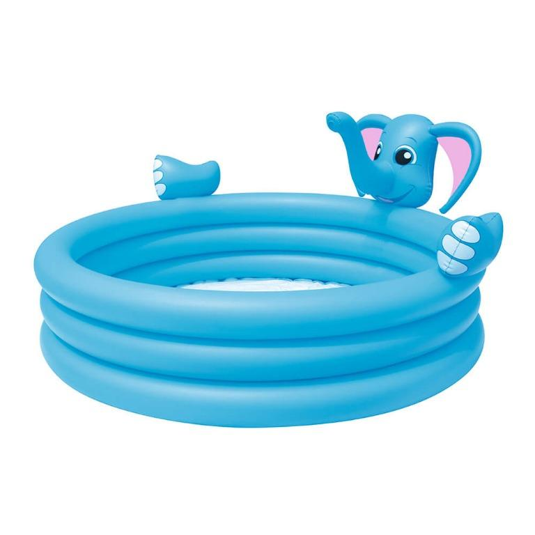 Bestway Inflatable Kids Play Pool 3 Ring Elephant Spray Splash Pools Game Toy