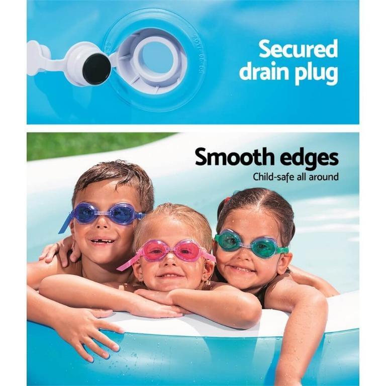 Bestway Inflatable Kids Pool Swimming Pool Family Pools 2.62m x 1.57m x 46cm