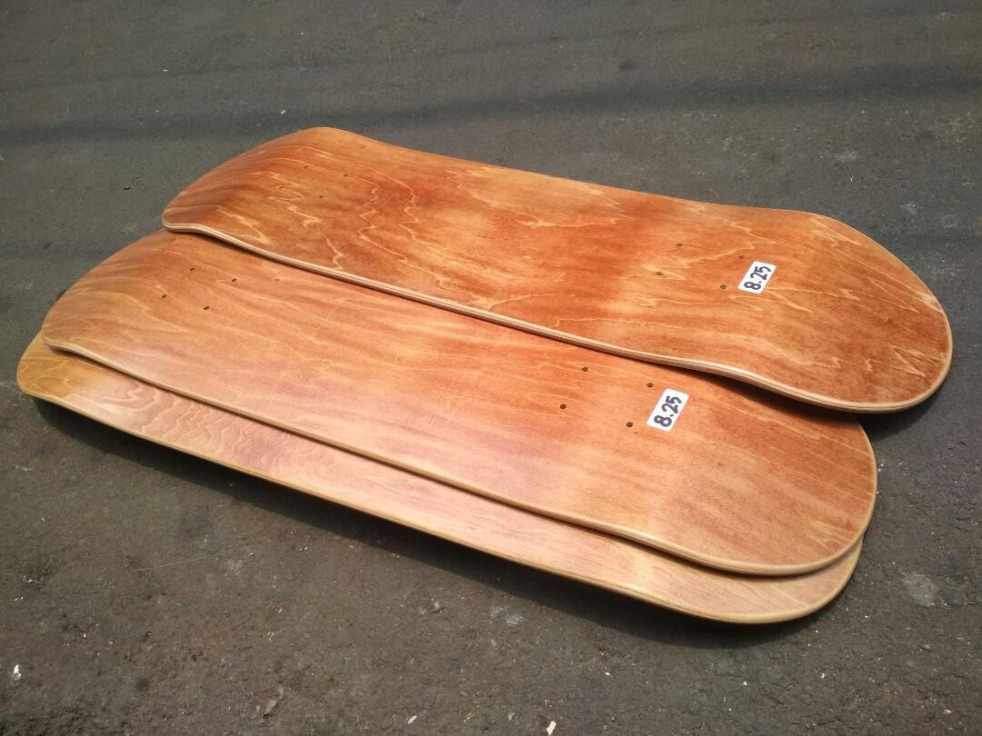 Blank deck skateboard 8.25