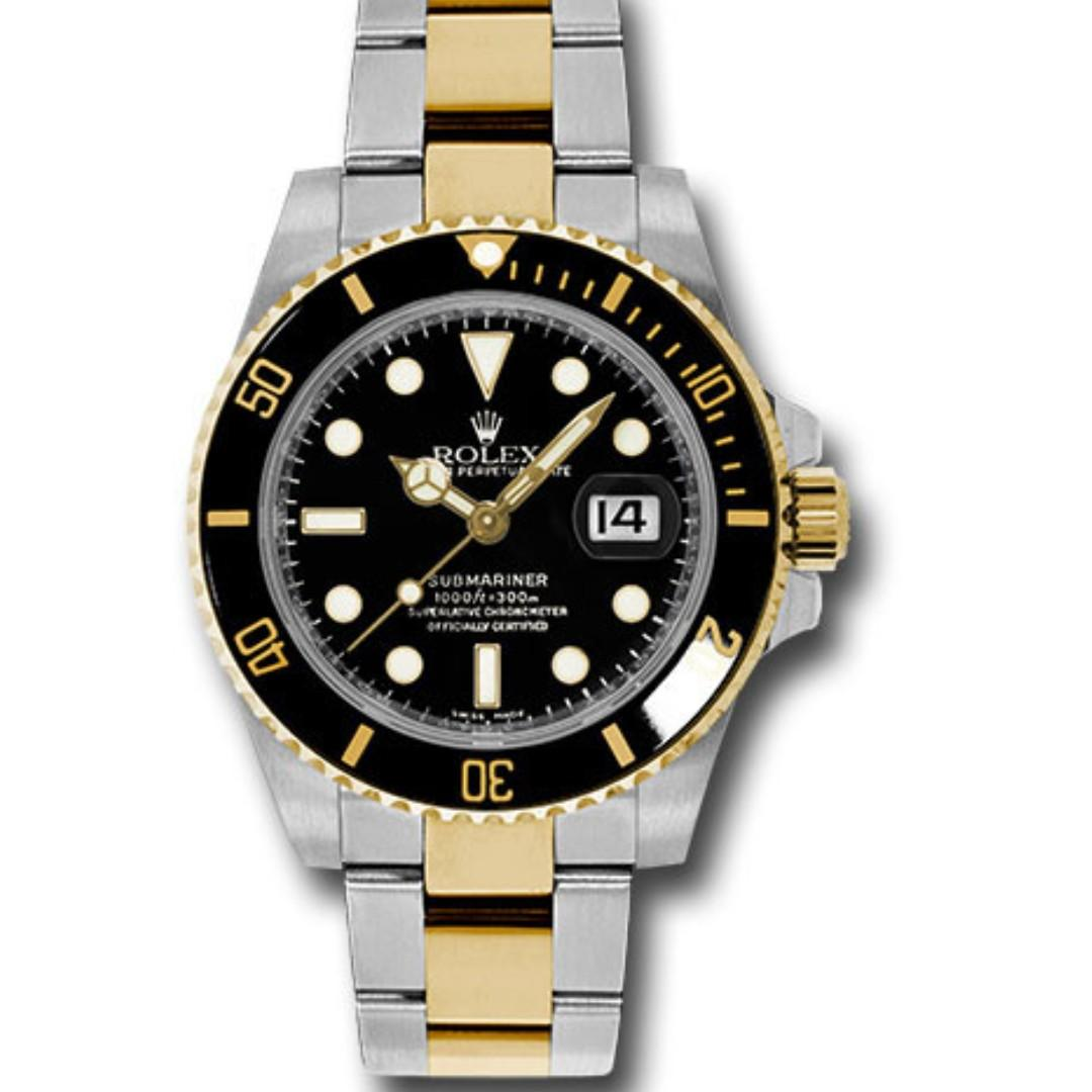 BNIB 116613LN Submariner Half Gold