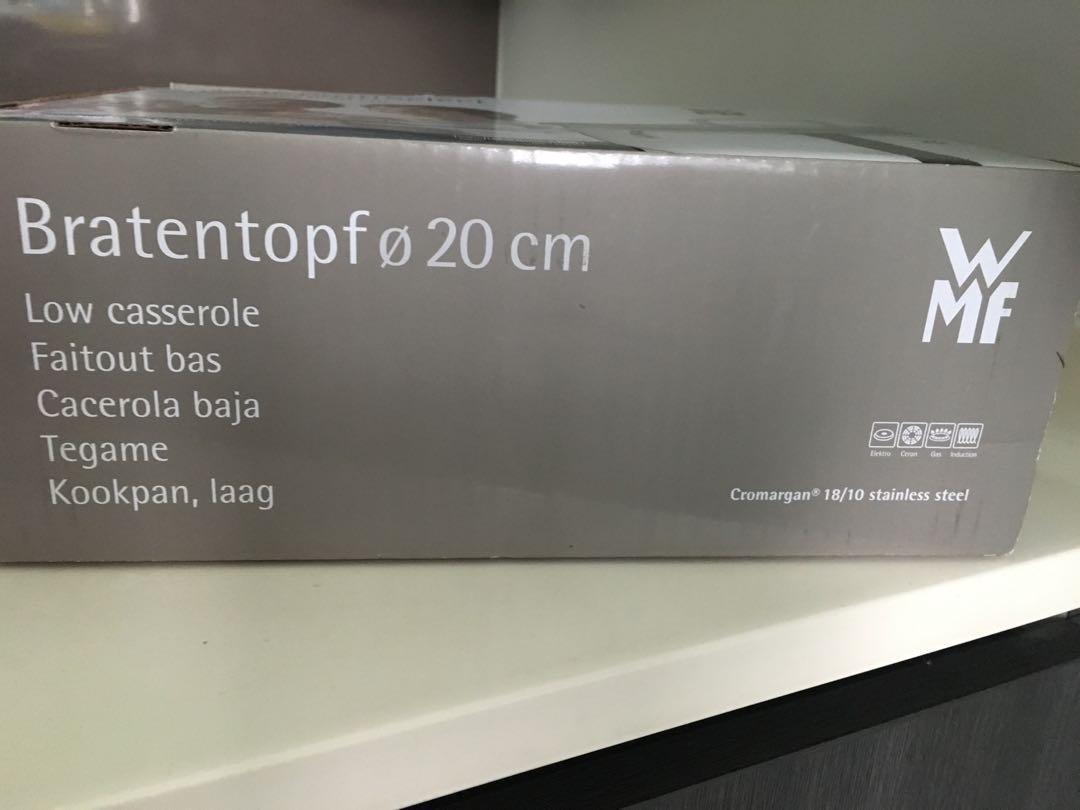 BNIB WMF ProfiSelect Low casserole - 20cm