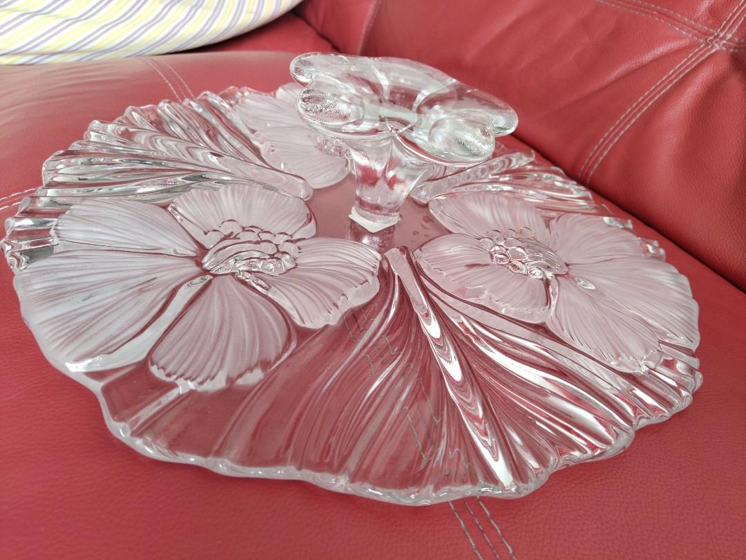 Boraque Glass Home Decor Cake Stand Platter