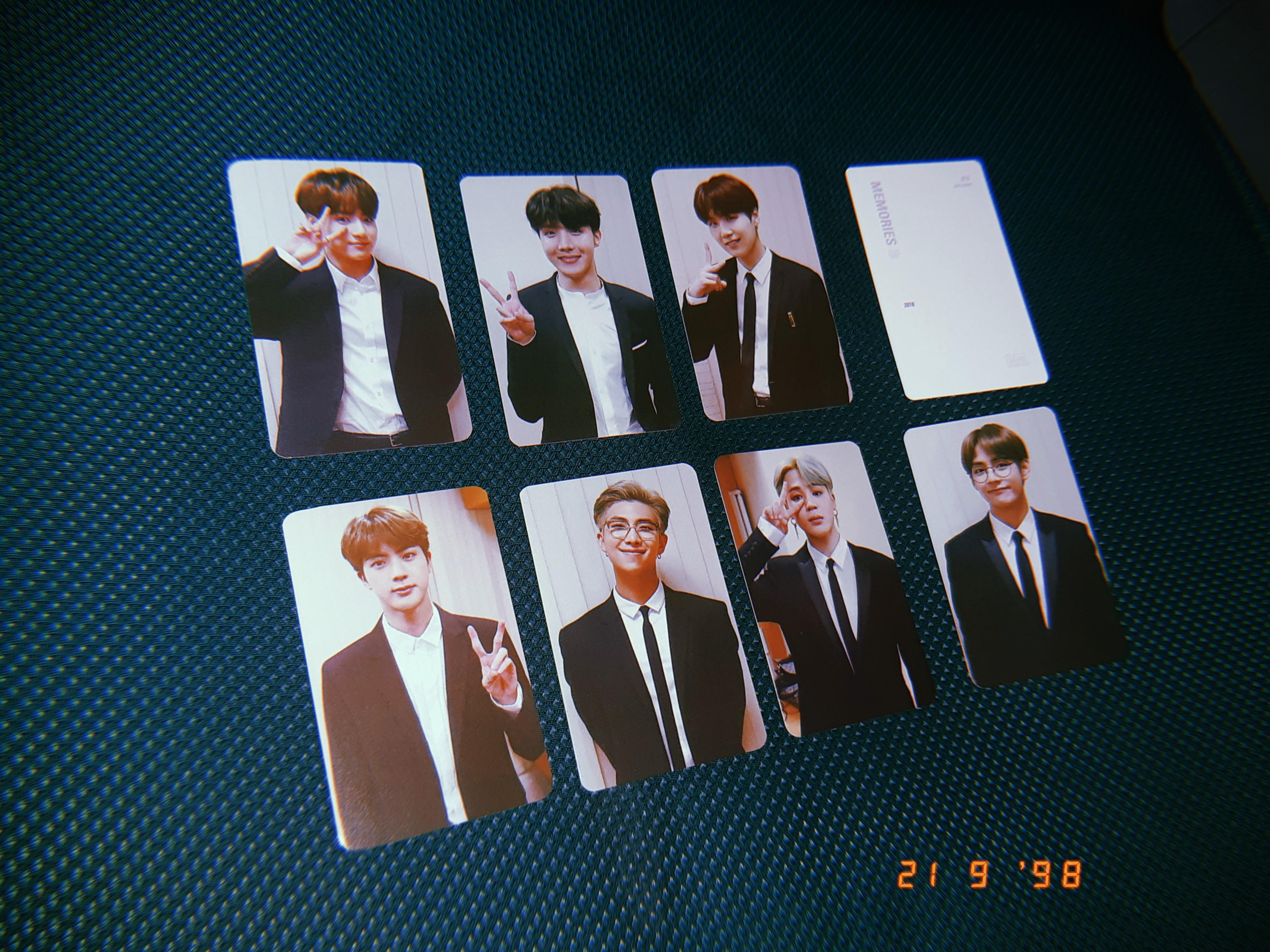 BTS MEMORIES 2018 DVD PHOTOCARDS