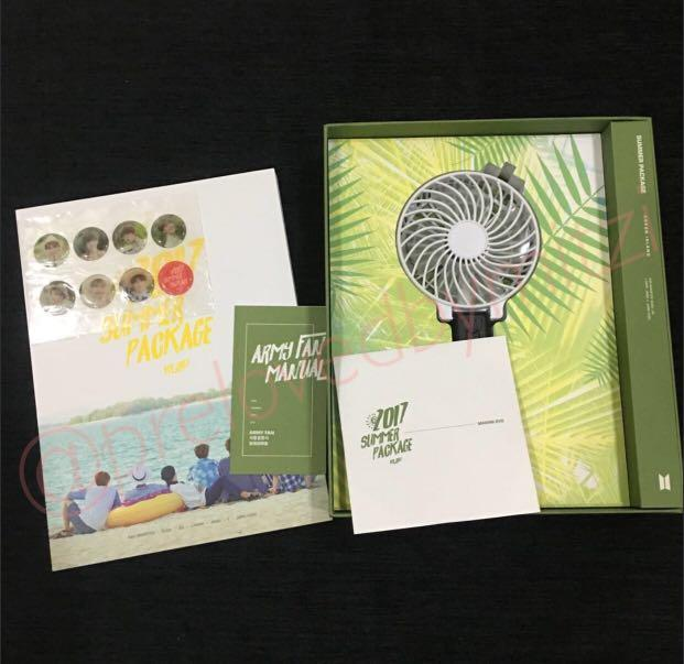 BTS SUMMER PACKAGE 2017 FULL SET WITH RM SELFIE BOOK