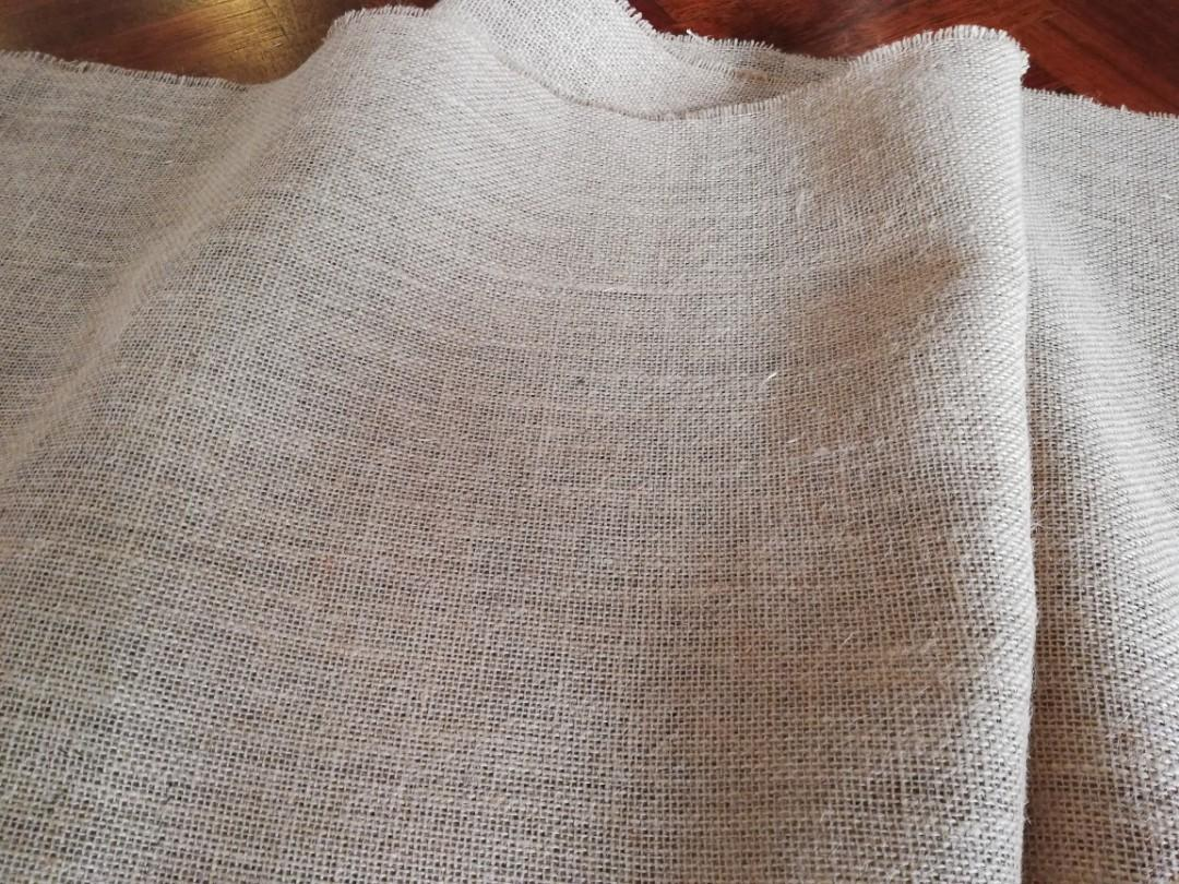 Burlap fabric - light brown