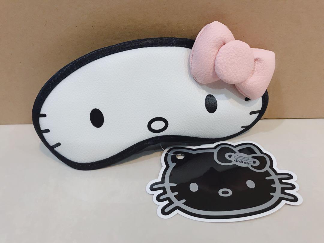 Claire's Original Hello Kitty By Sanrio Cute Kitty Cat Kids Baby Girl Wanita Women Eye Mask Eye wear