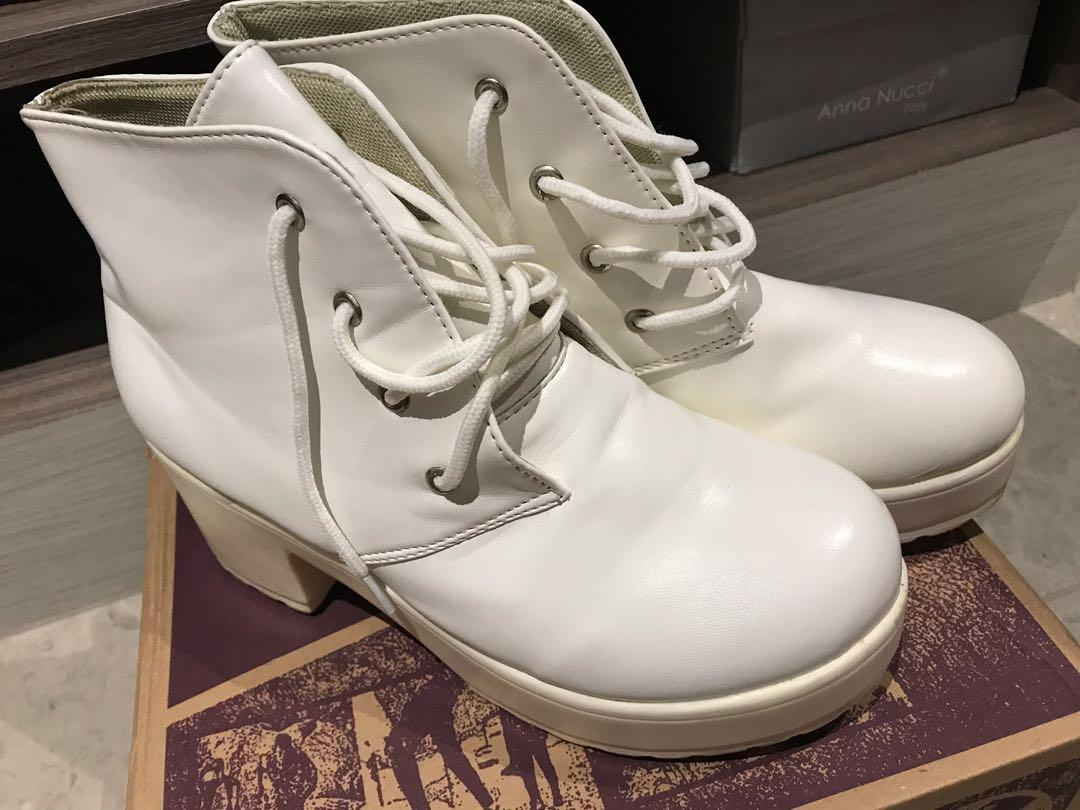 Fashion White Boots, Women's Fashion