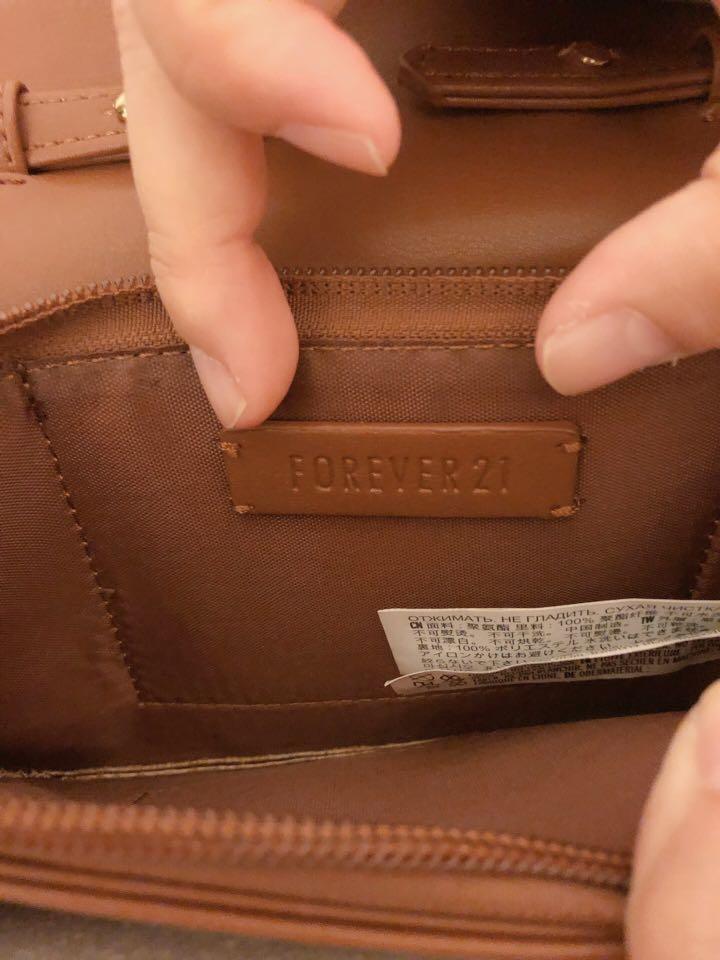 免運🛍FOREVER21歐美輕時尚質感褐色斜背小包#剁手時尚
