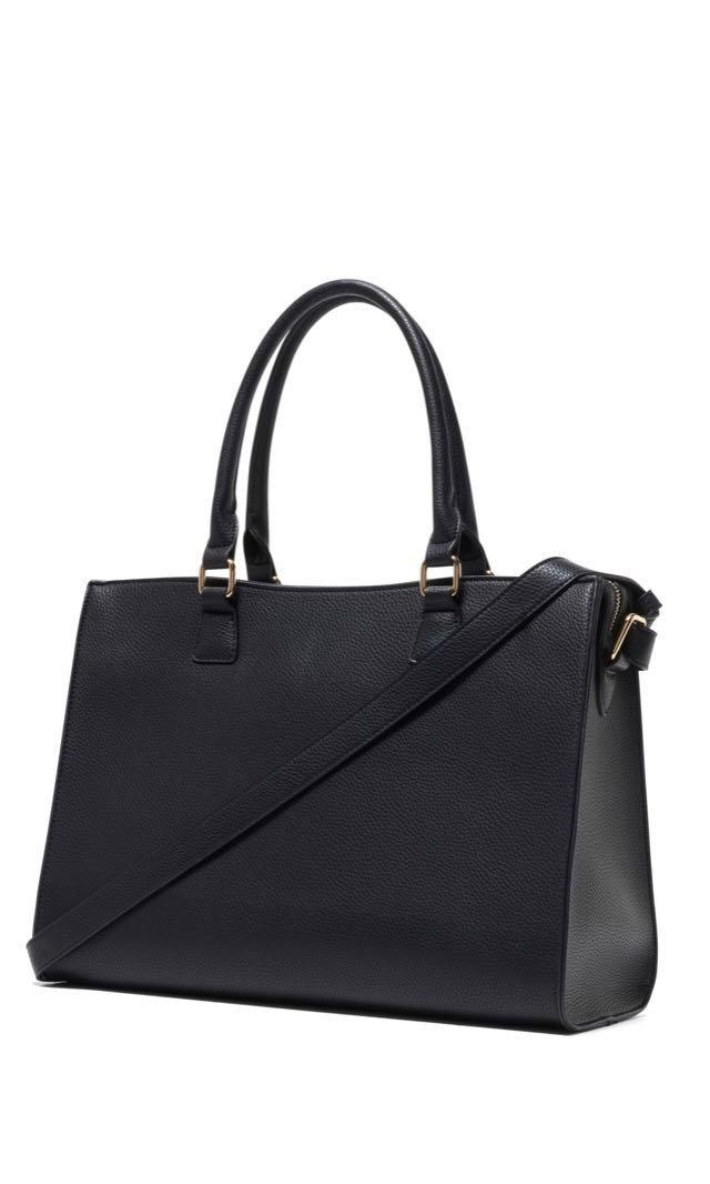 forever new black 15 inch laptop tote bag