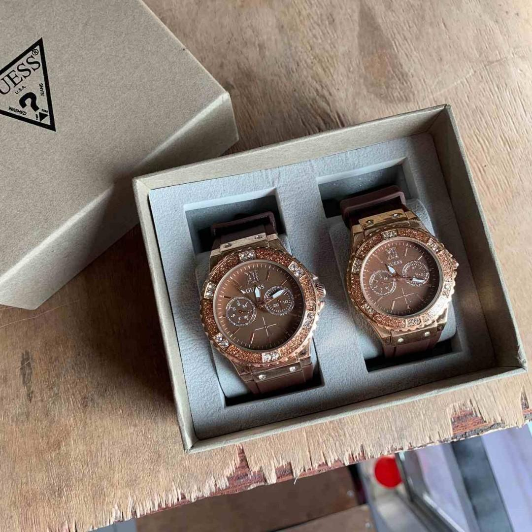GUESS BROWN DIAMOND COUPLE EXCLUSIVE