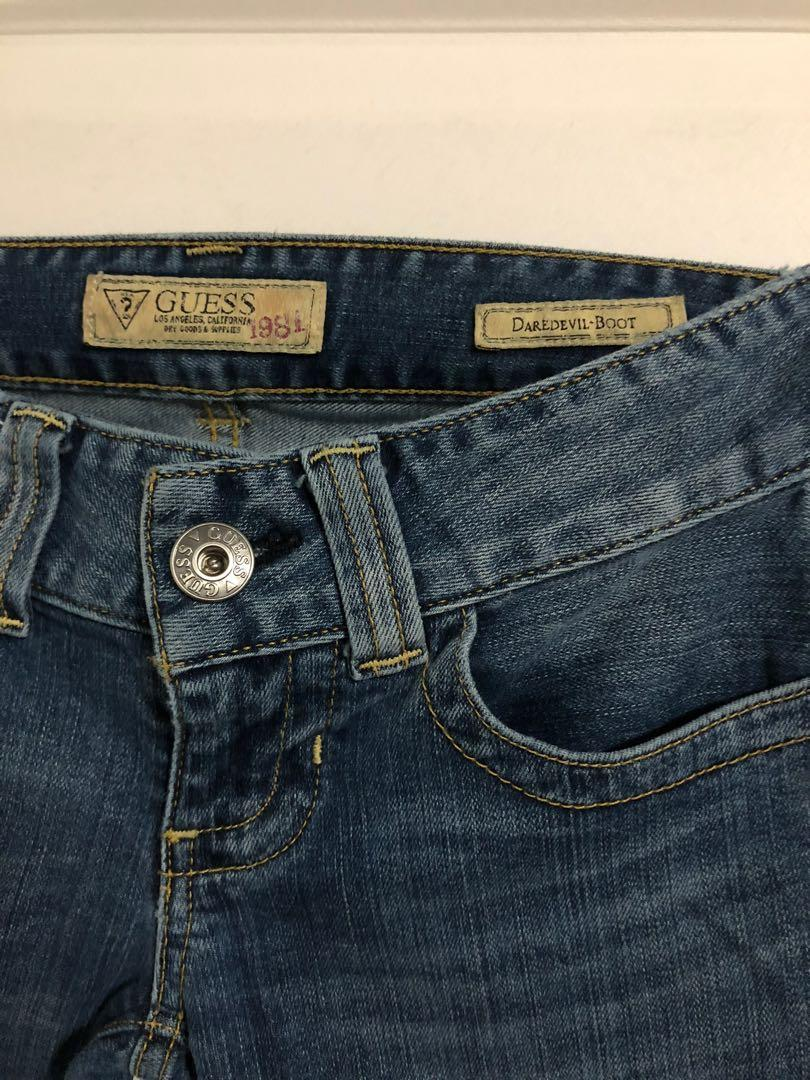 "Guess Jeans - ""Daredevil Boot"" medium wash size 24"