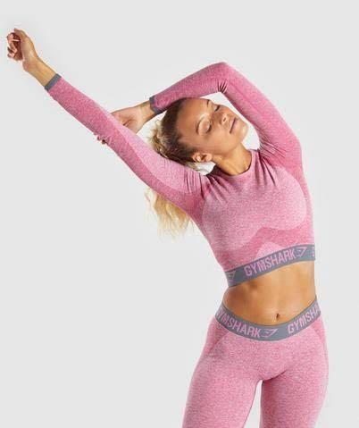 Gymshark flex long sleeve crop top