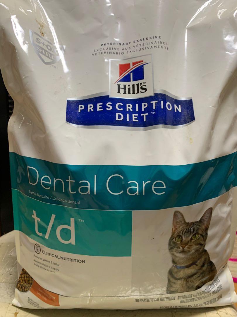 Hill's Dental Care T/D 貓 潔齒 口腔保健處方 乾糧 8.5 lbs  3.85kg