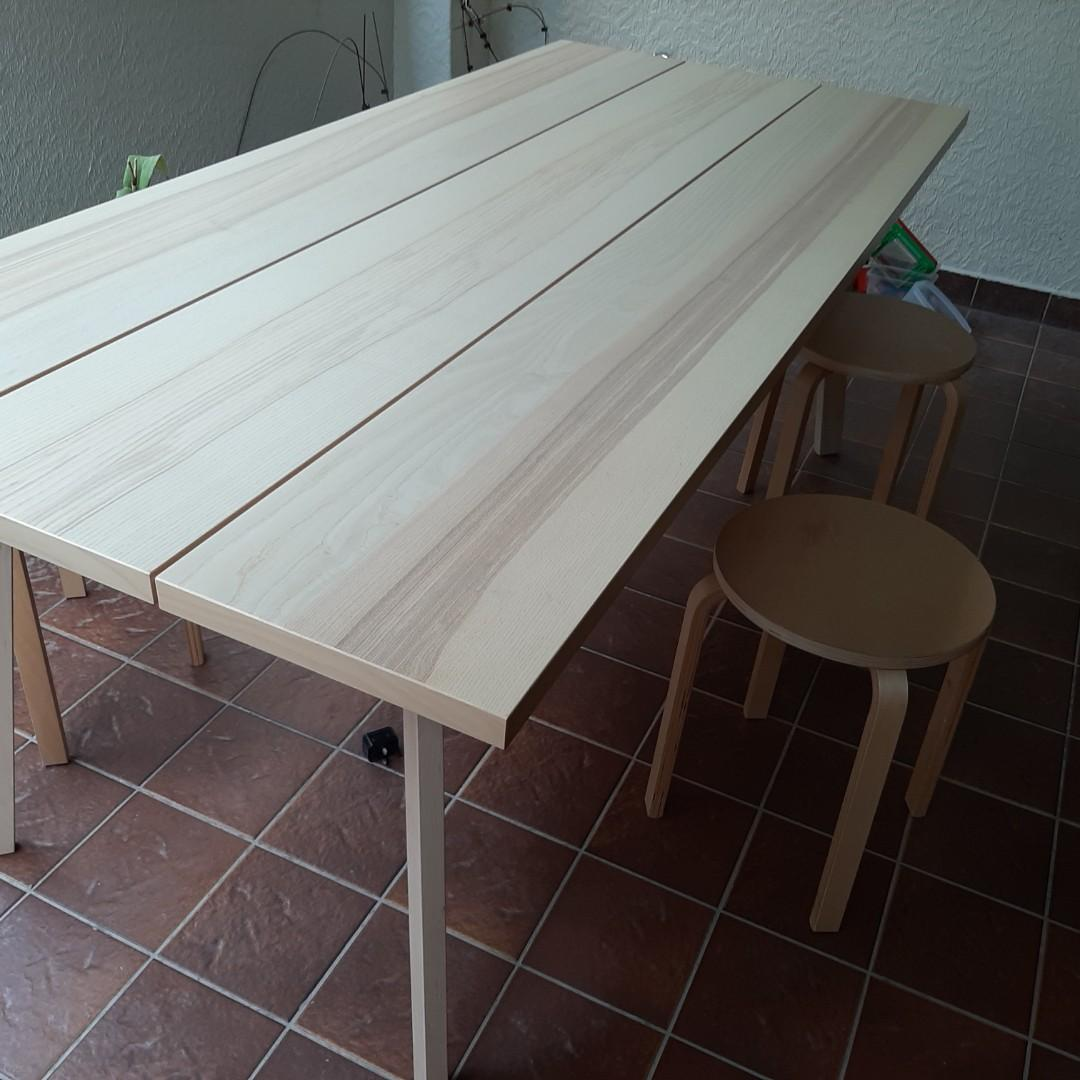 Ikea 8 Person Dining Table Stools And