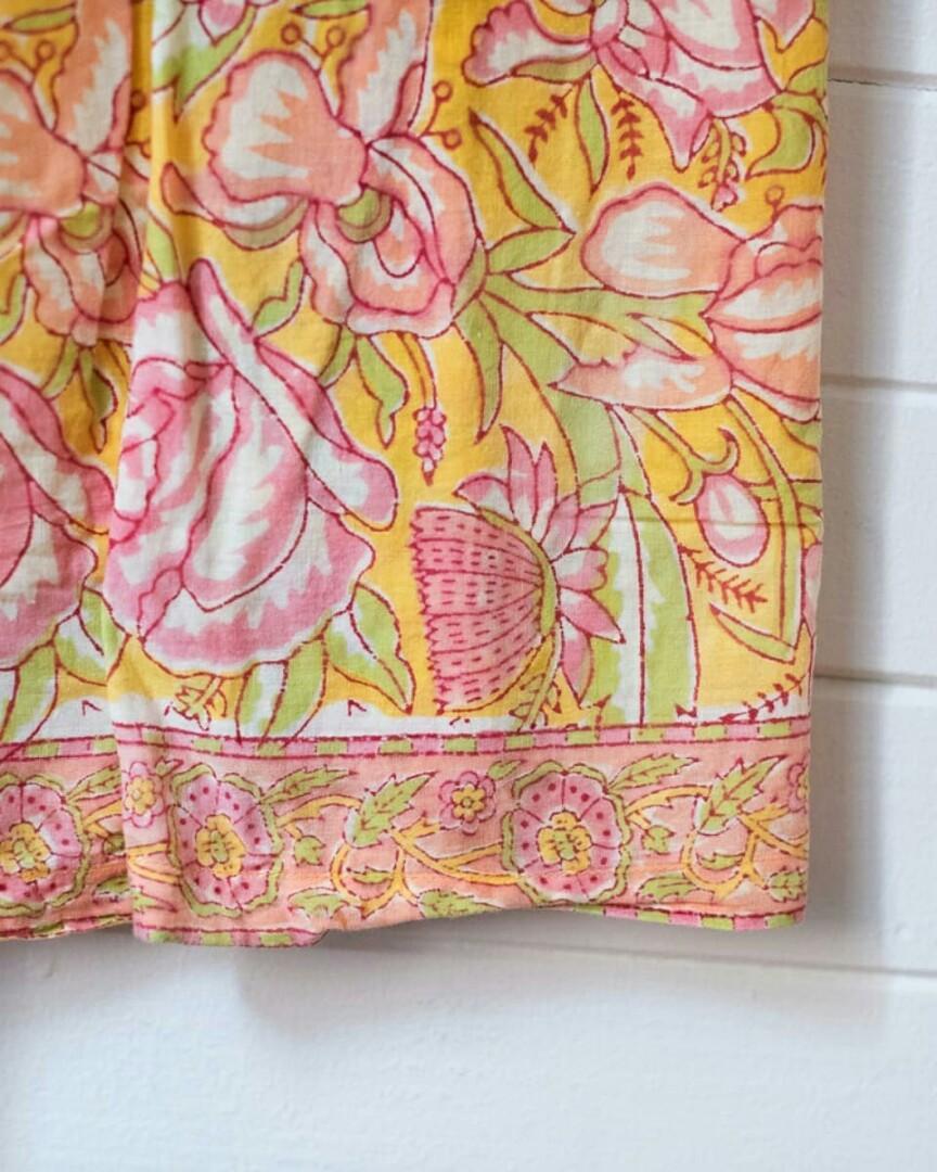 Indian block print maxi skirt