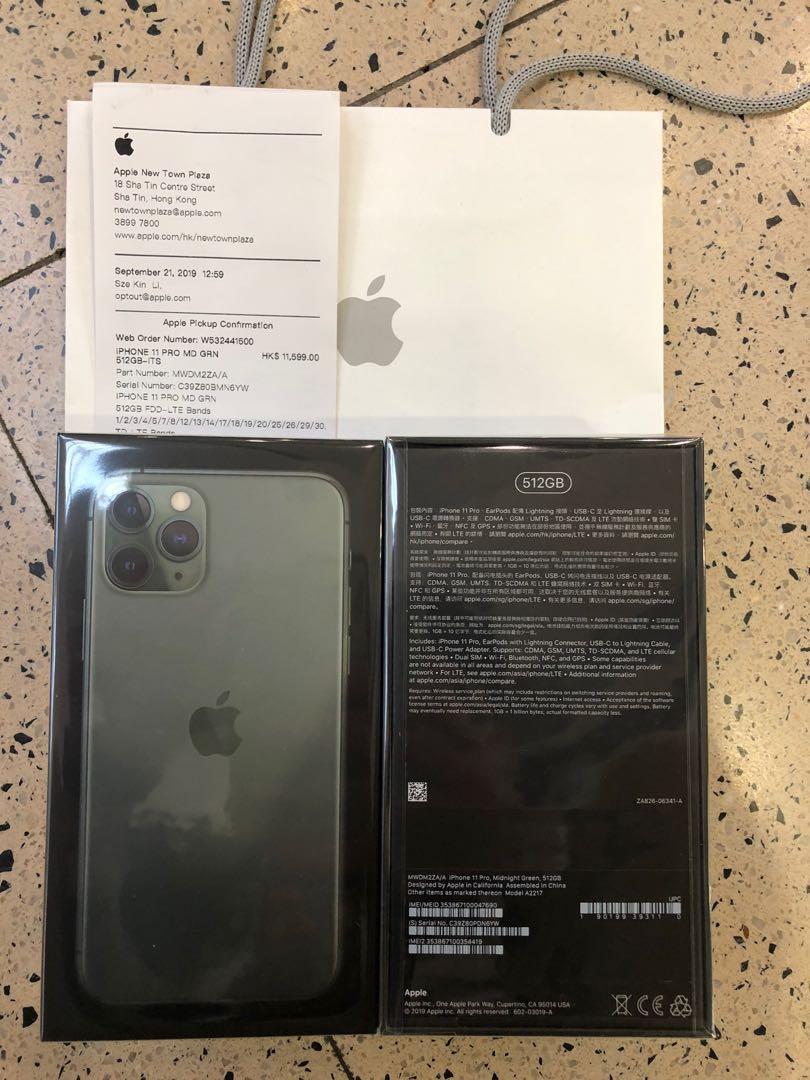 Iphone 11 pro 512 green