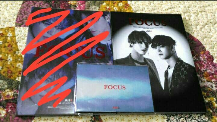 Jus2 album - Focus (Yugyeom 1st page & Yugyeom individual lyric poster)