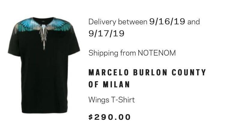 Marcelo Burlon County of Milan T-shirt (Brand New)