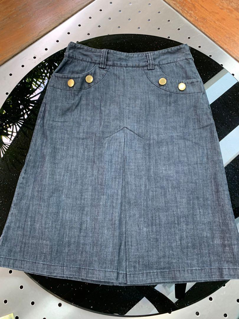 Marks&Spencer Autograph Weekend Denim Skirt (Size 8UK)