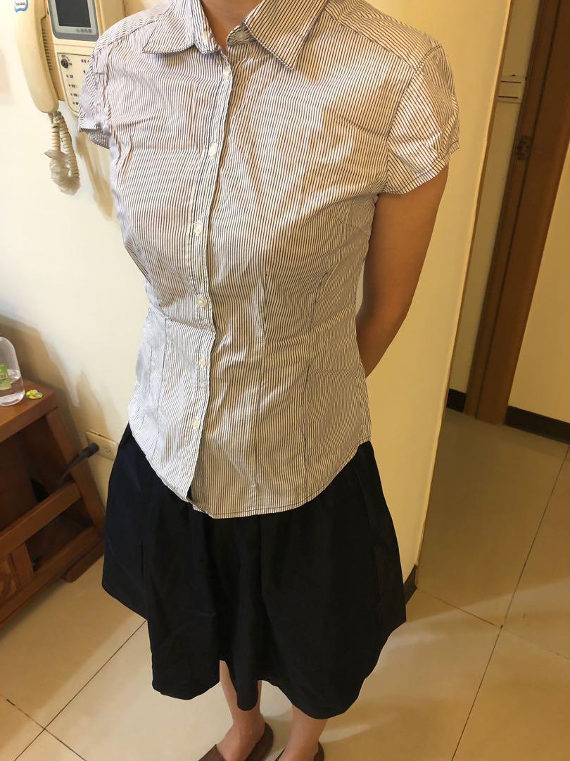 Net淑女條紋襯衫