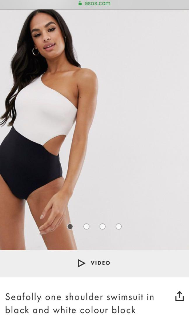 New! Seafolly one piece one shoulder maillot bathers