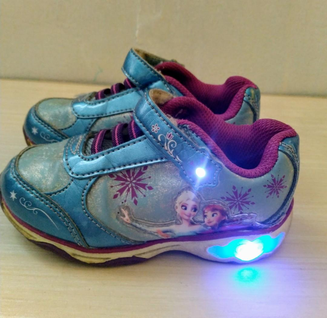Payless frozen rubber shoes with lights