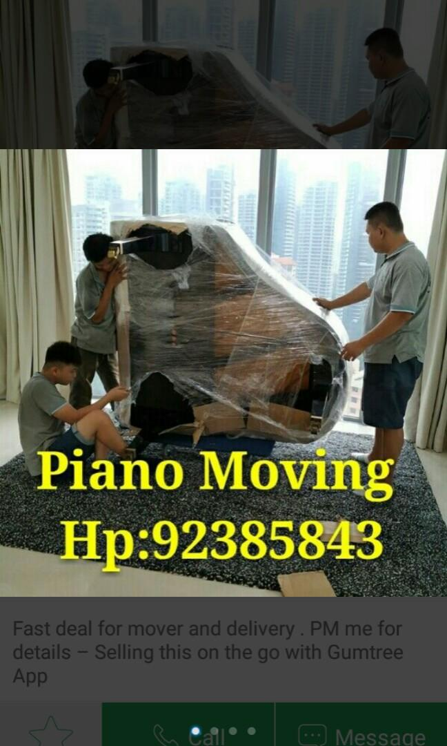 Piano Moving services call 92385843 JohnsionMover