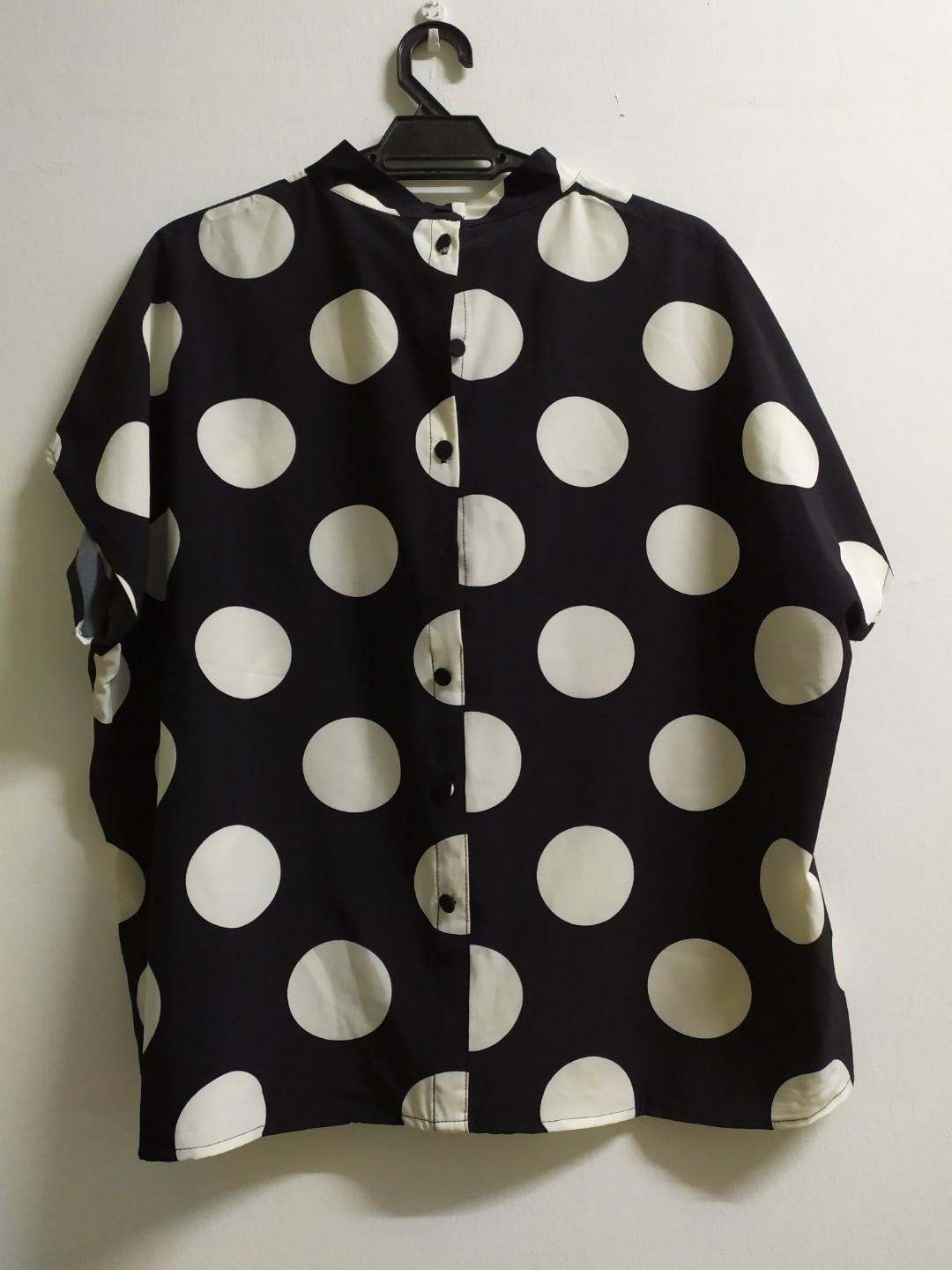 Cheap!Polka Dots Top Uniqlo Inspired