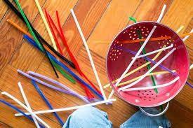 PRACTICAL LIFE ACTIVITY - COLORFUL PIPE CLEANERS FUN