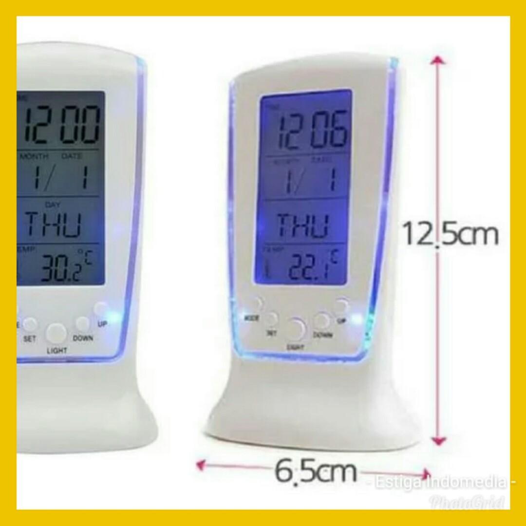 PROMO - Jam Meja Digital  LED - Thermometer Kalender Alarm