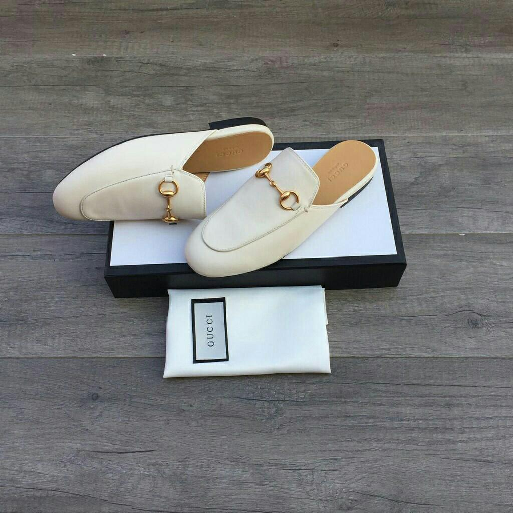 Readystock guccishoes guccisandals sandalslop heels sepatu jepit anting tas