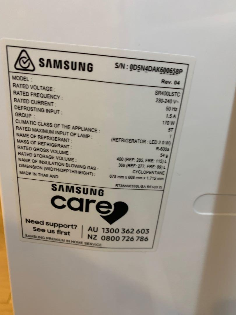 Samsung 400L fridge (10 months old ONLY practically BRAND NEW)