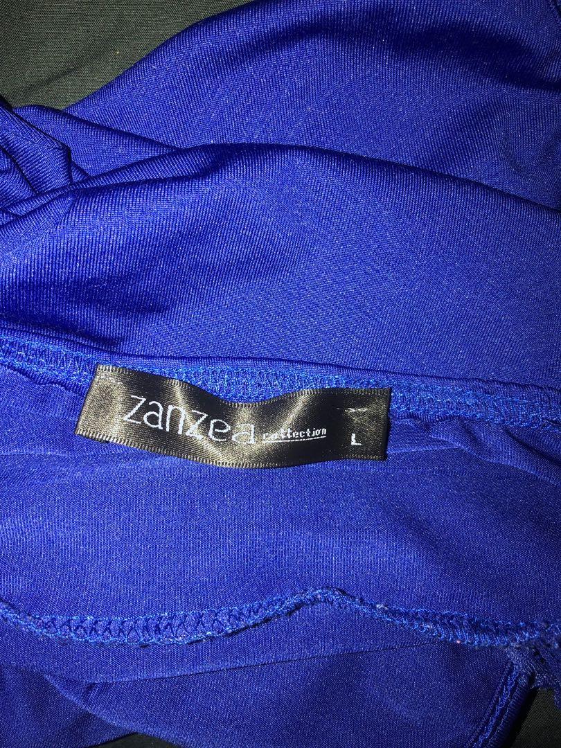 SEXY ROYAL BLUE LACE DEEP V NECK, OPEN BACK BODYSUIT, SIZE L🔥💕💫