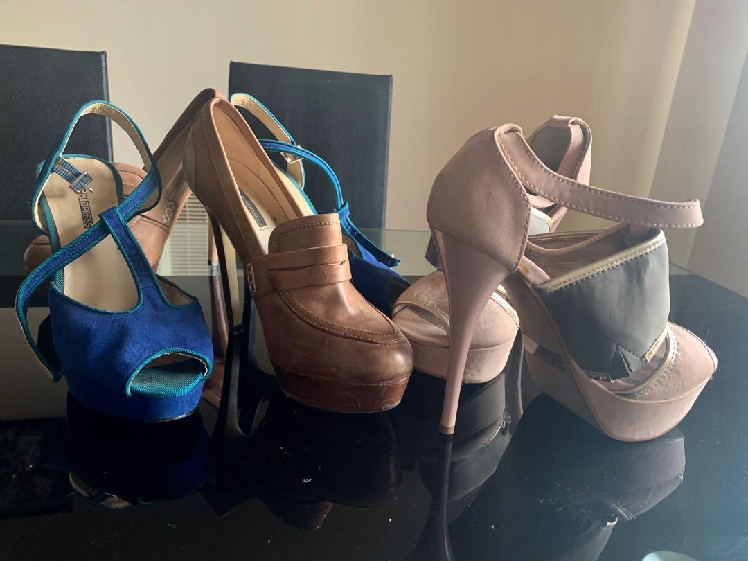Stunning Sexy 3 pairs shoes Tony Bianco & other brands