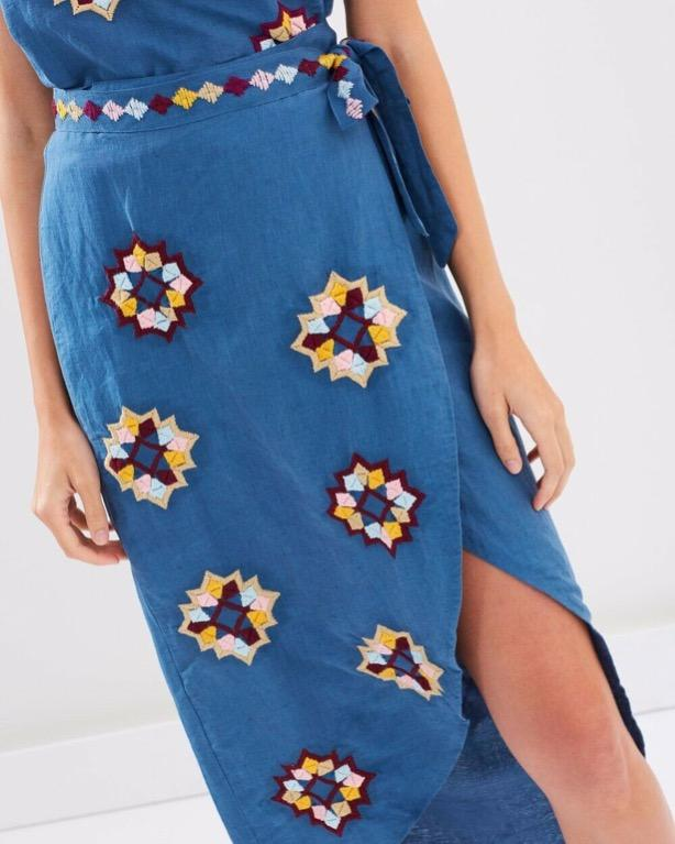 TIGERLILY EL PASO WRAP SKIRT (matching top in another listing)
