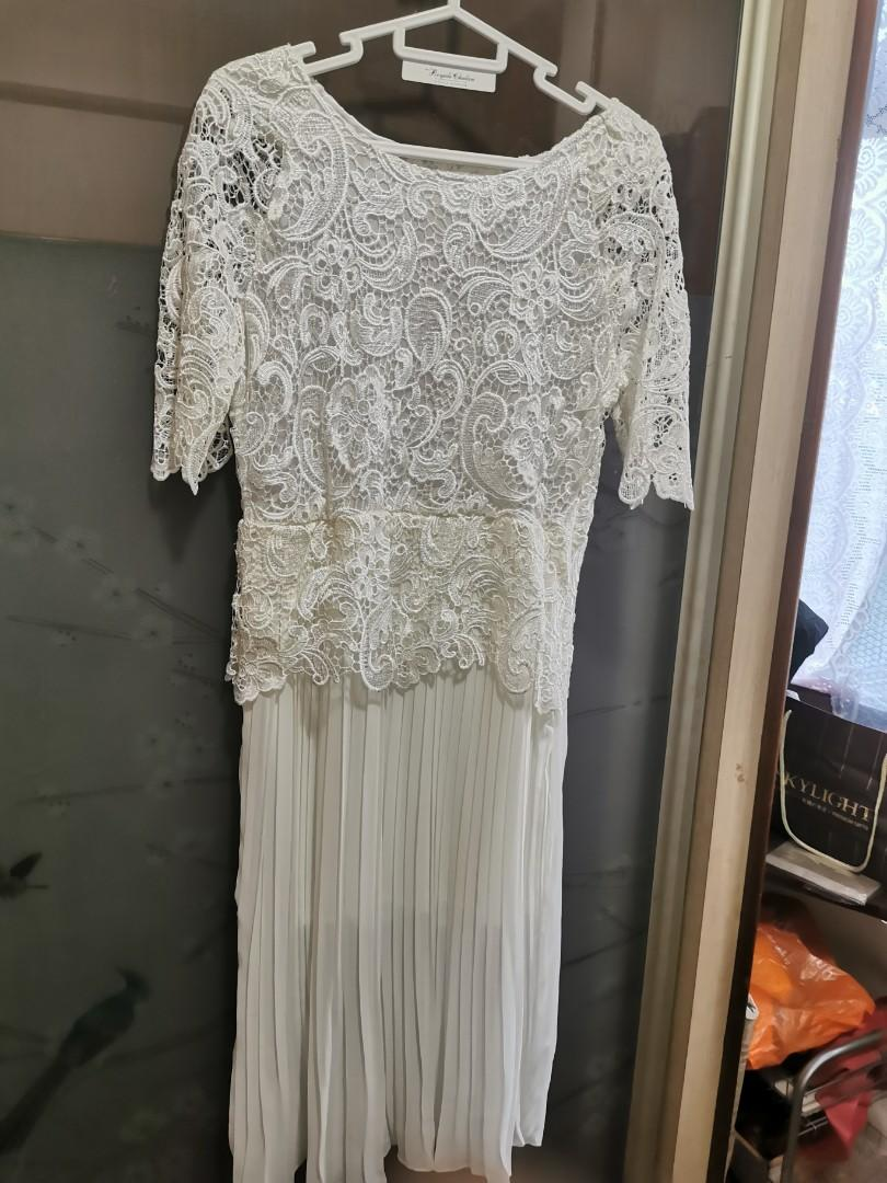 White Lace Dress XL