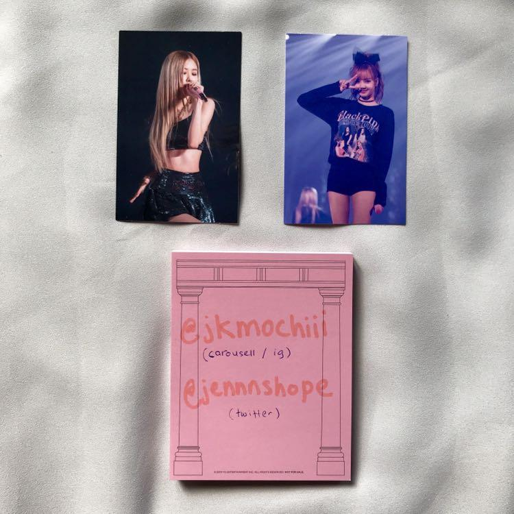 WTT blackpink seoul tour dvd photocard