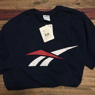 reebok 短袖T恤 深藍 logo XL