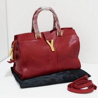 YSL cabas small red