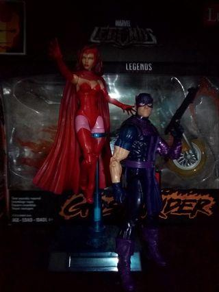 Marvel Legends Hawkeye and Scarlet Witch