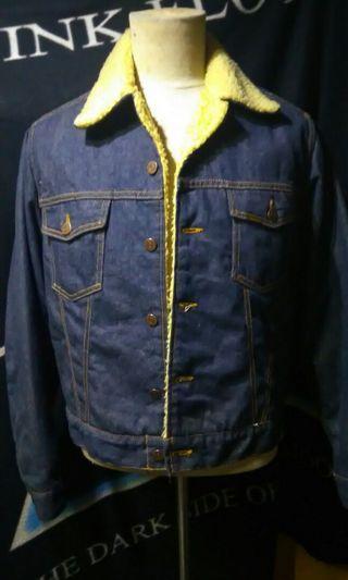 Vintage Roebucks denim sherpa trucker jacket
