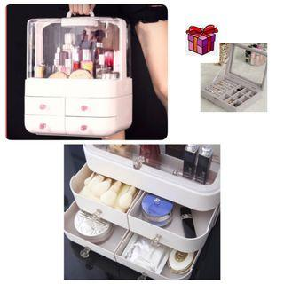 Free gift with Portable cosmetic organiser or storage box