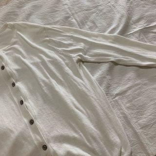 Wuly白色針織外套/長袖