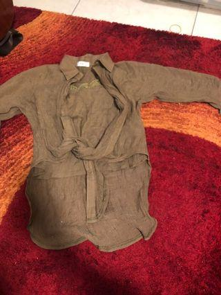 韓版 兩件式上衣 背心+外套